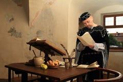 Burgrave in renaissance clothes Stock Image