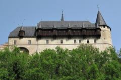 Burgraviate宫殿- Karlstejn城堡 免版税库存照片