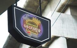 Burgrer restaurant board mockup royalty free stock photos