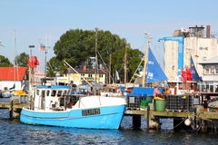 Burgstaaken harbor Royalty Free Stock Image