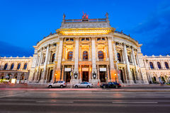 Burgteather Wien, Österrike Arkivfoton