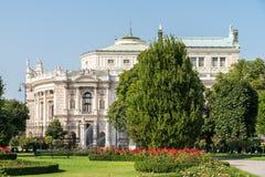Burgtheater (皇室剧院)在维也纳 库存照片