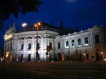 Burgtheater bij Nacht - Wenen, Oostenrijk Royalty-vrije Stock Afbeelding