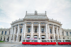 Burgtheater building in Vienna, Austria stock images