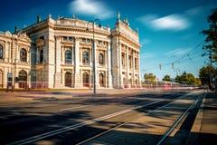 Burgtheater byggnad i Wien royaltyfria bilder