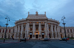 Burgtheater in the center of Vienna Royalty Free Stock Photo