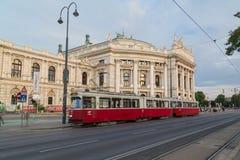 Burgtheater en Viena fotografía de archivo