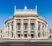 Burgtheater histórico (teatro da corte imperial) em Viena, Áustria Fotos de Stock