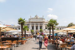 The Burgtheater (Imperial Court Theater) In Vienna Royalty Free Stock Photos