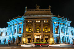The Burgtheater at night in Vienna, Austria Royalty Free Stock Photography