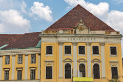 Burgtheater or Varszinhaz building in Budapest Buda Castle district Stock Photography