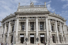 The Burgtheater in Vienna. The façade of the Burgtheater in Vienna stock image