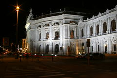Burgtheater in Vienna, night scenes Stock Image