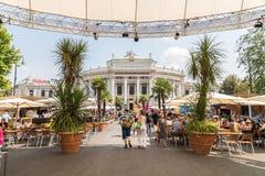 Burgtheater W Wiedeń (Cesarskiego sądu teatr) Zdjęcie Stock