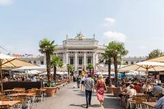 Burgtheater W Wiedeń (Cesarskiego sądu teatr) Zdjęcia Royalty Free