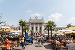 Burgtheater W Wiedeń (Cesarskiego sądu teatr) Obraz Royalty Free