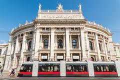 Burgtheater W Wiedeń (Cesarskiego sądu teatr) Obraz Stock