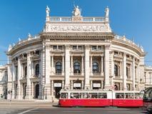 Burgtheater W Wiedeń (Cesarskiego sądu teatr) Obrazy Stock