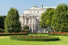 Burgtheater W Wiedeń (Cesarskiego sądu teatr) Fotografia Stock
