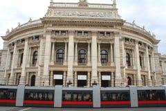 Burgtheater, Wenen, Oostenrijk Royalty-vrije Stock Afbeeldingen