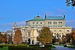 Burgtheater Wien royalty free stock photography