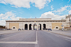 The Burgtor Gate. Cityscape of Vienna under a bright blue sky in the summer. Stock Photos