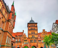 Burgtor, the northern gate of Lubeck, Germany Royalty Free Stock Photos