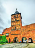 Burgtor północna brama Lubeck, Niemcy obrazy royalty free