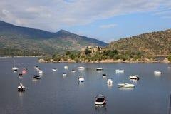 Burguillo rezerwuar Iruelas dolina, Hiszpania Obraz Royalty Free