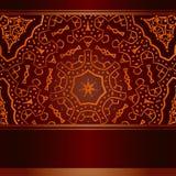 Burgund-Einladung mit abstrakter afrikanischer Runde Stock Abbildung