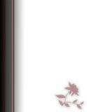 Burgunday en Zwarte Linker Opgeruimde Grens Stock Afbeelding