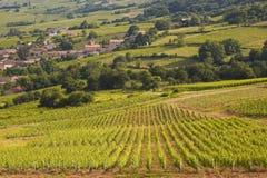 Burgunder-Dorf Lizenzfreies Stockbild