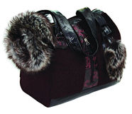 Burgundi dog bag Royalty Free Stock Photography
