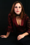 Burgundii koronek bluzki fotografia stock
