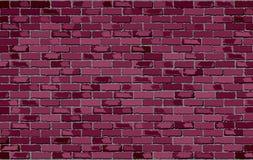 Burgundy ściana z cegieł Zdjęcia Stock