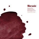 Burgundy, κρασί, υπόβαθρο watercolor marsala Στοκ Φωτογραφίες