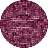 Burgundy σφαίρα τούβλου Στοκ φωτογραφία με δικαίωμα ελεύθερης χρήσης