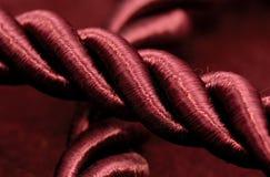burgundy σχοινί Στοκ φωτογραφίες με δικαίωμα ελεύθερης χρήσης