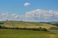 Burgundy λόφοι Στοκ φωτογραφία με δικαίωμα ελεύθερης χρήσης