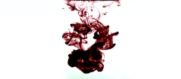 Burgundy atramentu zawijas zdjęcie royalty free