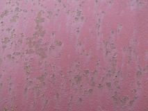 Burgundy background color - the structure of a painted metal sheet with. Burgundy background color - structure of a painted metal sheet with rust royalty free stock photography