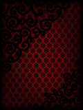 Burgundy background with ornament Stock Image