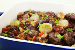Burgundy Beef Bourguignon Stew French Food Stock Photos