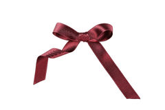 Burgundy bow Stock Image