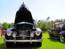 Burgundy classic convertible car Royalty Free Stock Photo