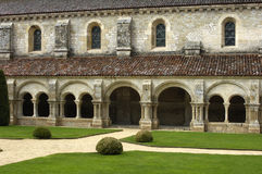 Burgundy, the cloister of Fontenay s abbey Royalty Free Stock Images