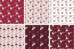 Burgundy colour collection For paper Royalty Free Stock Photo