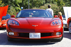 Burgundy Corvette Royalty Free Stock Image