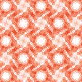 Burgundy czerwonego geometrycznego fractal bezszwowy wzór Fotografia Stock