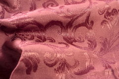 Burgundy Damask Fabric Royalty Free Stock Images